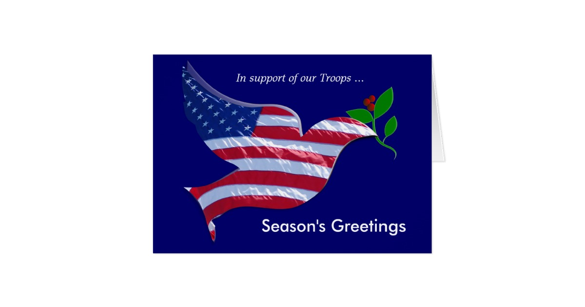 holiday cards for our troops
